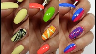 3 Easy Accent Nail Ideas! Water Marble #7 (Khrystynas Nail Art)