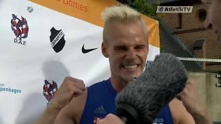 Andreas Martinsen sætter ny dansk rekord på 110m Hæk ved CAG