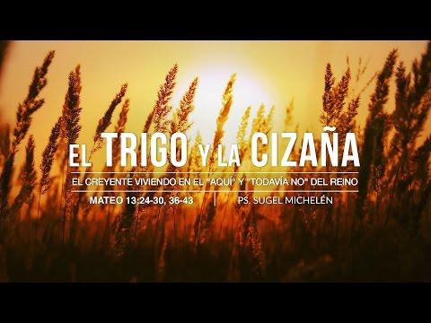 """""""El trigo y la cizaña"""" Mateo 13:24-30, 36-43 Ps. Sugel Micheleén"""