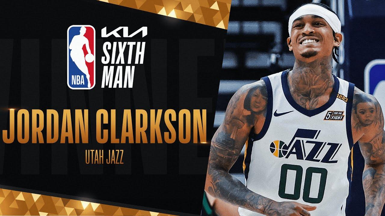 Jordan Clarkson Wins #KiaSixth Man of The Year!   2020-21 NBA Season