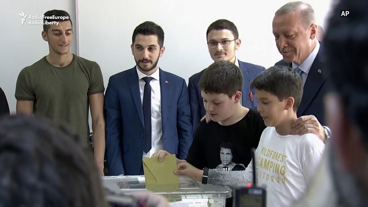 Erdogan Votes In Turkey's Watershed Elections