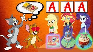 Equestria Girls The Funny Story Of Learn Make Tom & Jerry Cake | Funny Tom & Jerry