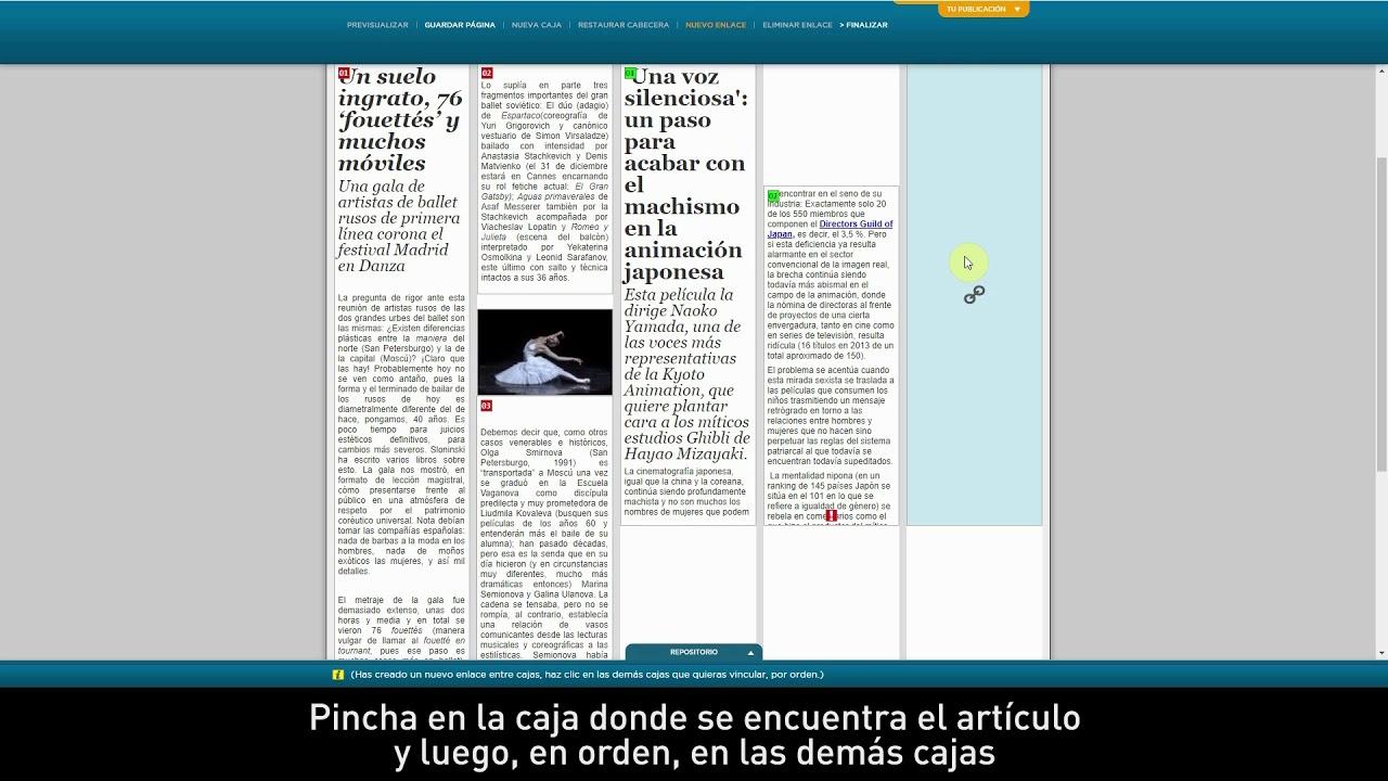 Maquetar un artículo en un periódico formato papel - YouTube