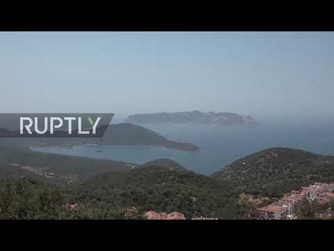 Turkey: Turkish naval vessel sighted in Kas amid maritime te
