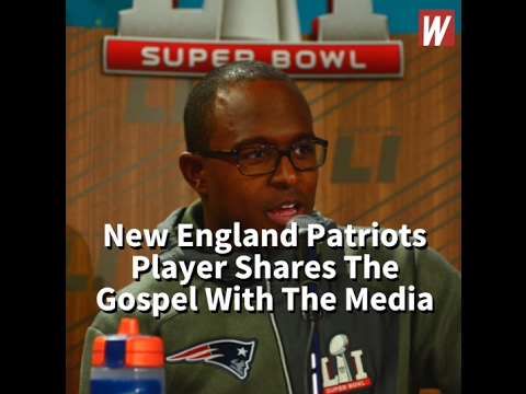 New England Patriots Player Shares The Gospel With The Media