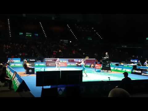 Lee Chong Wei and Carolina Marin - All England Badminton 2017