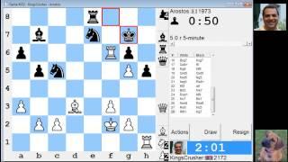 LIVE Blitz #2189 (Speed) Chess Game: White in Robatsch (modern) defense