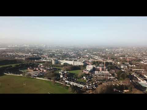 Take off & Flight of Mavic Pro DJI drone over Dublin Ireland 🇮🇪 21.02.2018