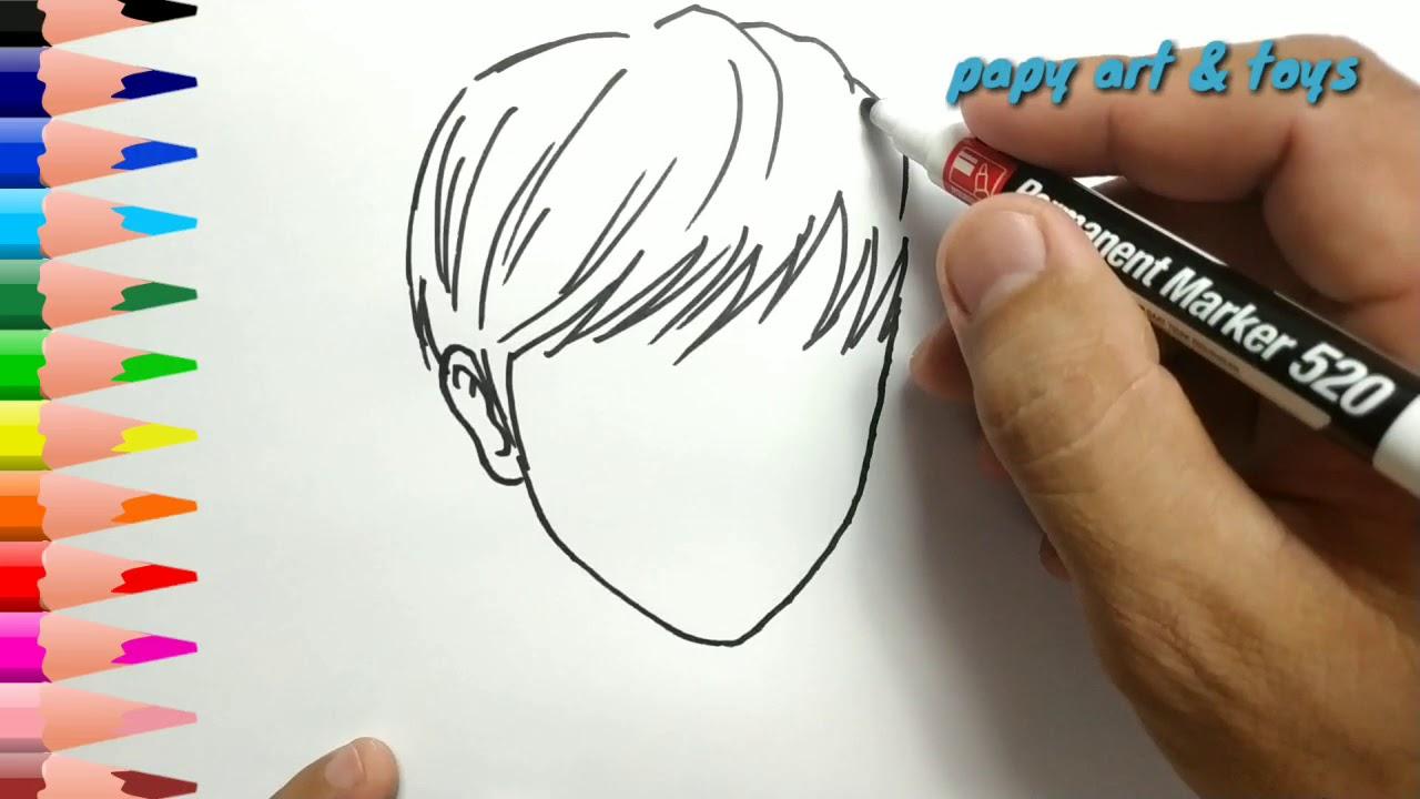 Ajaib Belajar Cara Menggambar Pria Anime Mewarnai Kartun Dengan Mudah Anak Indonesia Menggambar Youtube