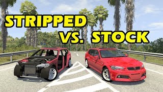 Fully Stripped vs Stock - beamng drive