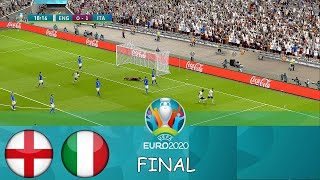 ENGLAND vs ITALY - Final EURO 2020 - Full Match - All Goals HD - PES 2021