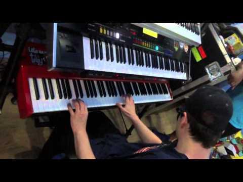 Blind Fury - Playing The Keys @ Audio Box Studios