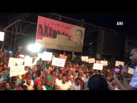 Maldives on boil: Massive protest in Male against President Yameen