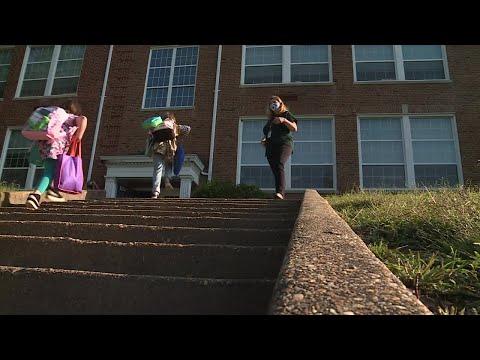 Students return to Dinwiddie Elementary School