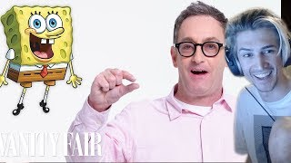 xQc Reacts to Tom Kenny (SpongeBob) Reviews Impressions of His Voices | Vanity Fair