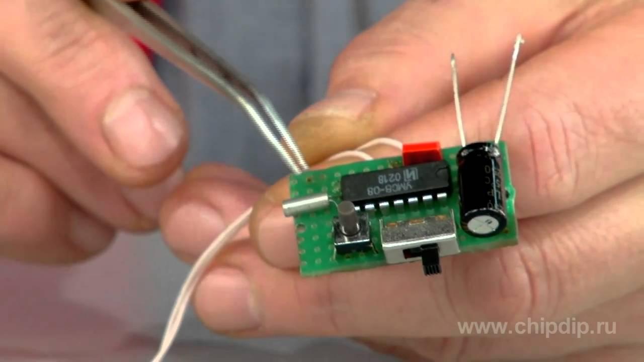 схема дверной звонок на микросхеме
