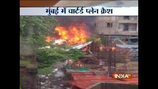 Chartered plane crashes in Mumbai's Ghatkopar, hits an under-construction building