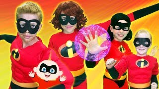The Incredibles Finger Family | Finger Family Fun House | WigglePop