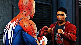 MILES MORALES MEETS SPIDER-MAN & PUNCHES HIM | SPIDER-MAN PS4 (SCENE)