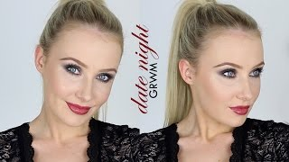 Date Night GRWM: Sultry Smokey Eyes, Glossy Mauve Lips, Slicked Ponytail | Lauren Curtis thumbnail