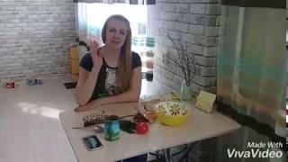 """Салат из сухариков и фасоли """"Воскресный"""""""