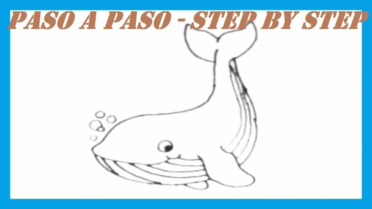 Como dibujar una Ballena l How to draw a Whale - YouTube