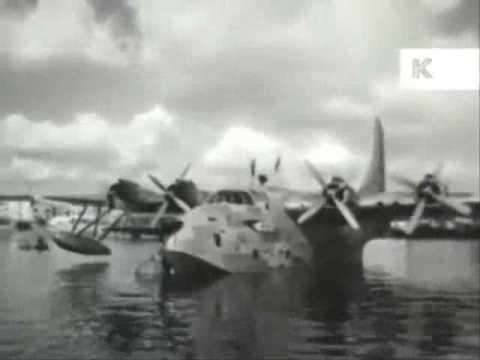 1950s Southampton Marine Airport BOAC