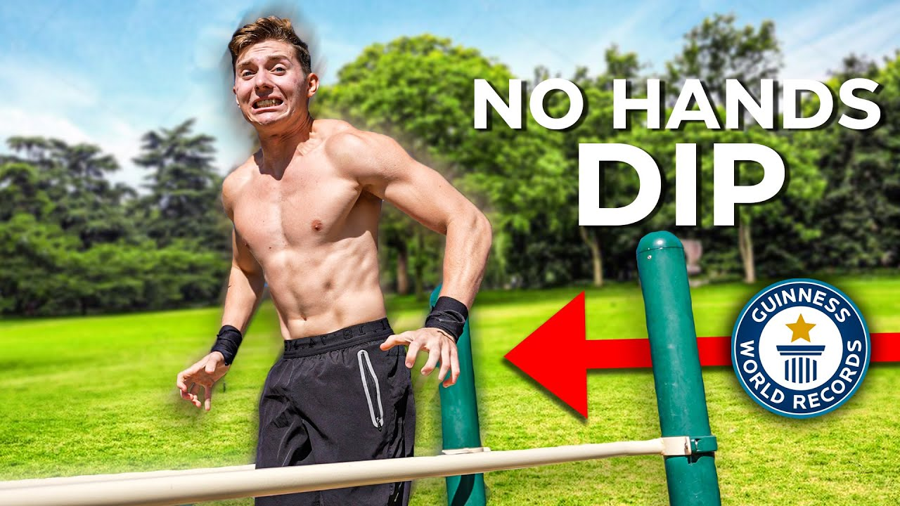 REAL No Hands Dip Challenge (Can You Do 1 Rep?)
