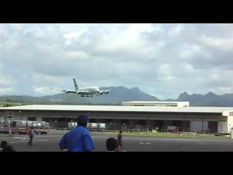 A380 low pass Mauritius