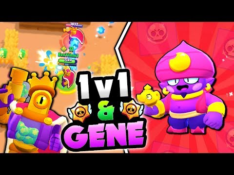 GENE GAMEPLAY OVERVIEW! IS HE OP?! & 1v1 NEW RICO SKIN WITH REY IN BRAWL STARS!