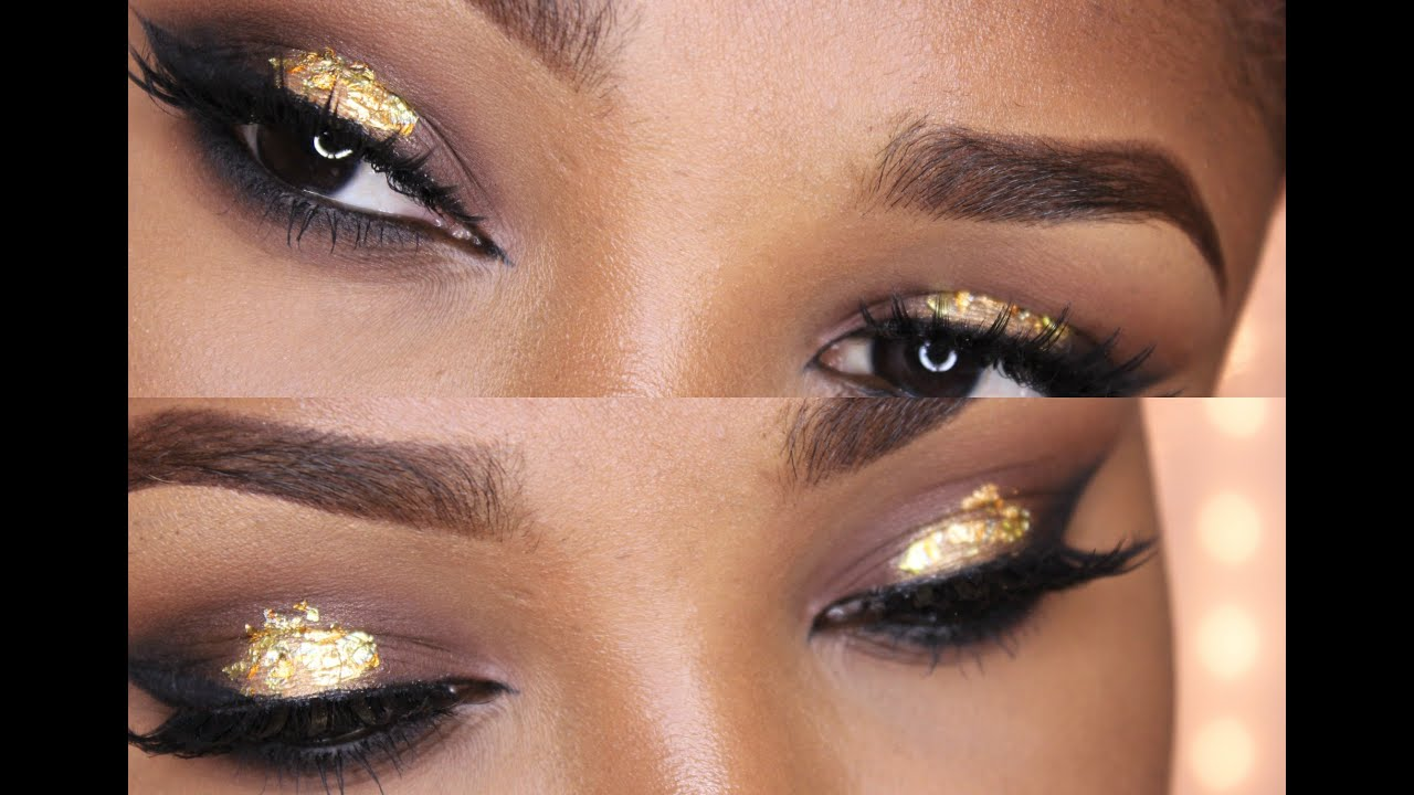 Holiday Gold Leaf Eye Makeup Full Face Tutorial Giveaway Closed