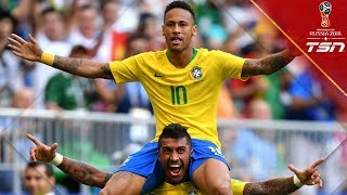Neymar scores, assists & rolls for Brazil in Round of 16 win