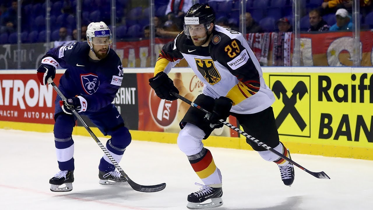 new product a643d 45a7b Leon Draisaitl, Team Germany stay perfect with 4-1 win over Team France - -  IIHF World Championship