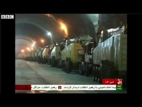 Inside Iran's Tunnels Used To Store Ballistic Missiles