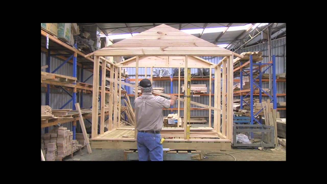How to build a cubby house cladding wall part 1 youtube for Build a home