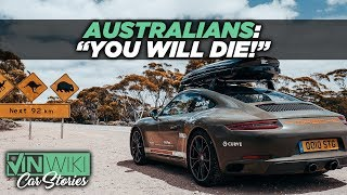 How dangerous is it to cross Australia in a sports car?