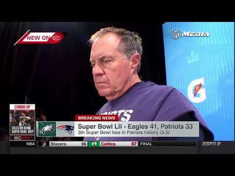 Bill Belichick Postgame Interview   Patriots vs Eagles   Super Bowl LII