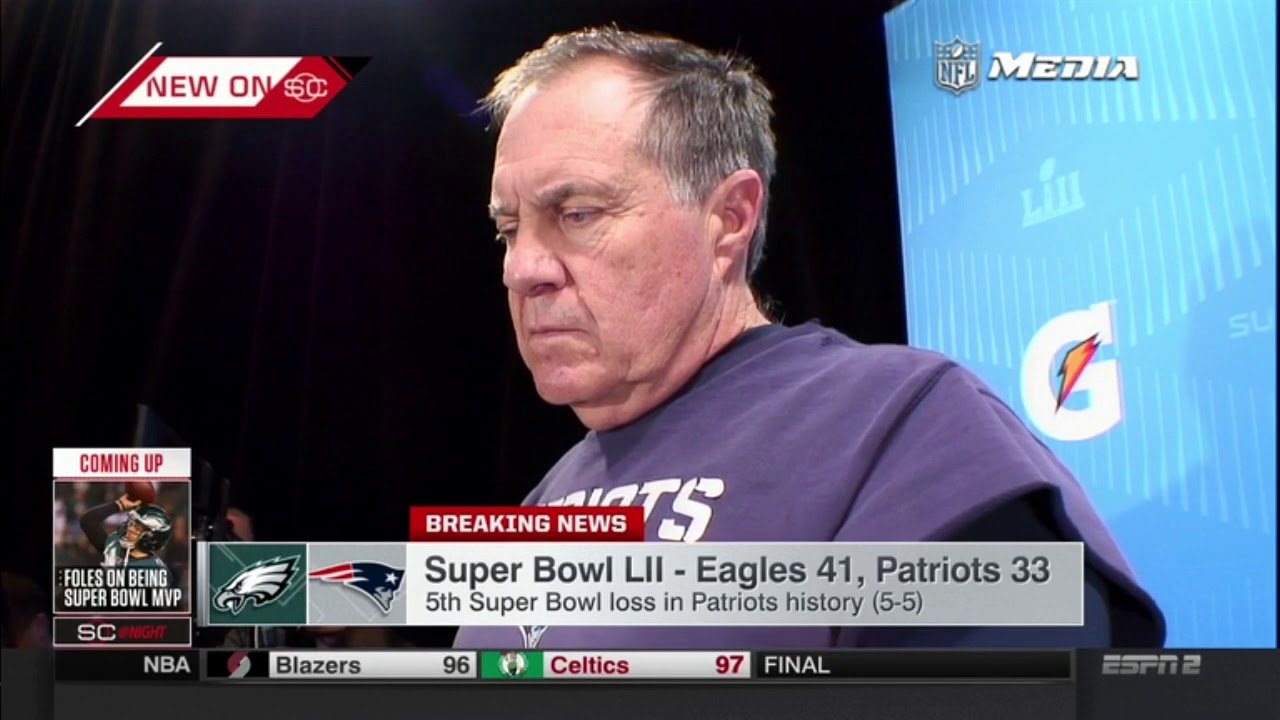 Bill Belichick praises Tom Brady and explains how Patriots ...