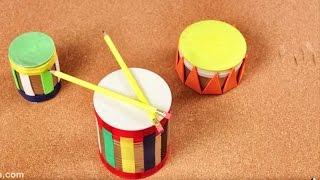 Como hacer tambores con latas y globos - Juguetes para Niños con Materiales Caseros