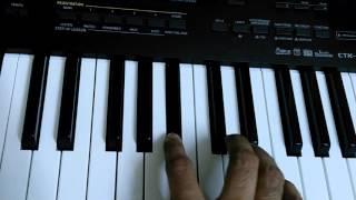 aane wala pal jane wala hai on keyboard piano instrumental