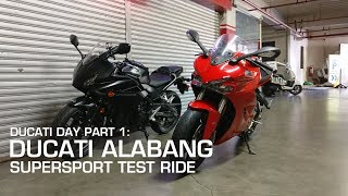 MotoVLOG: Ducati Day Part 1: Ducati Alabang Supersport Test Ride