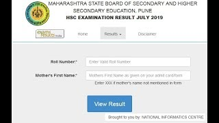 mahresult.nic.in 2019 MH HSC Result 2019, MH Board 12th Result 2019 Declared