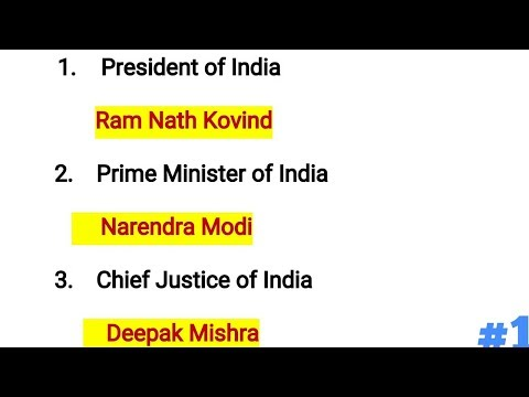 Constitutional Office Holder & Cabinet Ministers of India 20