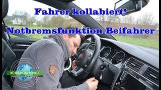 Fahrer kollabiert - Notbremsfunktion Beifahrer - Fahrstunde