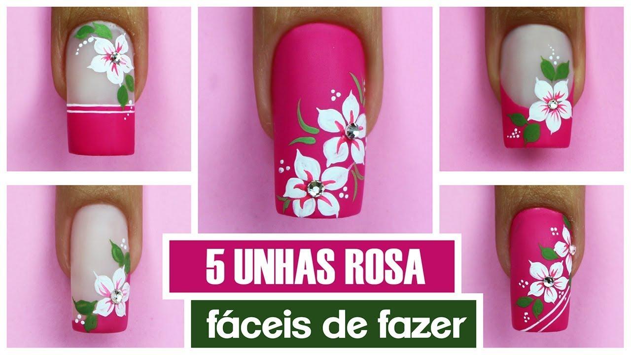 5 UNHAS ROSA MAIS FÁCEIS DO MUNDO