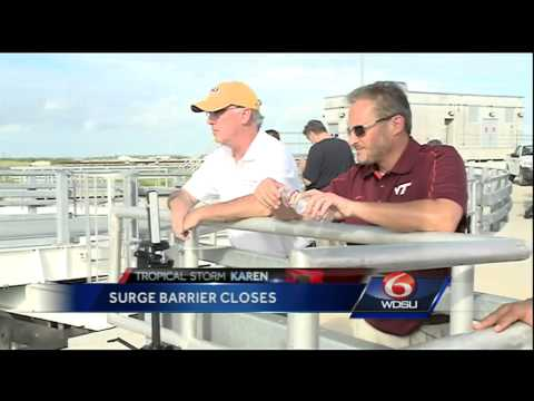 US Army Corps of Engineers closes surge barriers