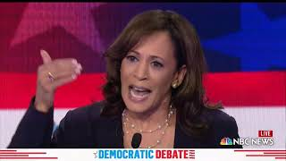 WATCH: Harris says she'd be a president who better used her microphone s| 2019 Democratic Debates