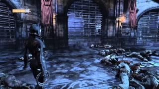 Прохождение Batman Arkham city Женщина кошка против двуликого