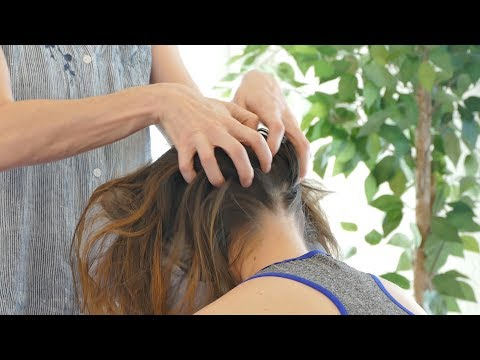 How to Relieve Headaches, Neck Tension & Stress | Chair Massage with Jade, Relaxing Pain Relief thumbnail