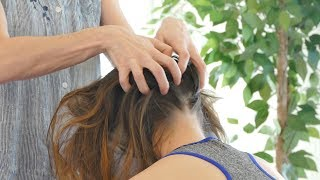How to Relieve Headaches, Neck Tension & Stress | Chair Massage with Jade, Relaxing Pain Relief